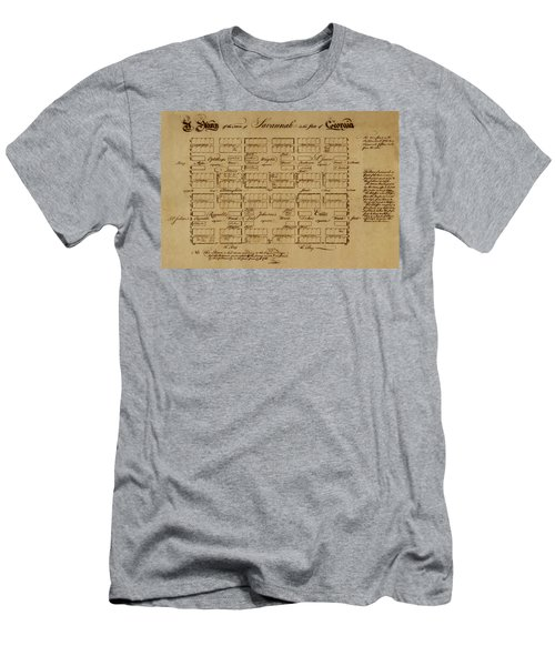 Map Of Savannah 1761 Men's T-Shirt (Athletic Fit)