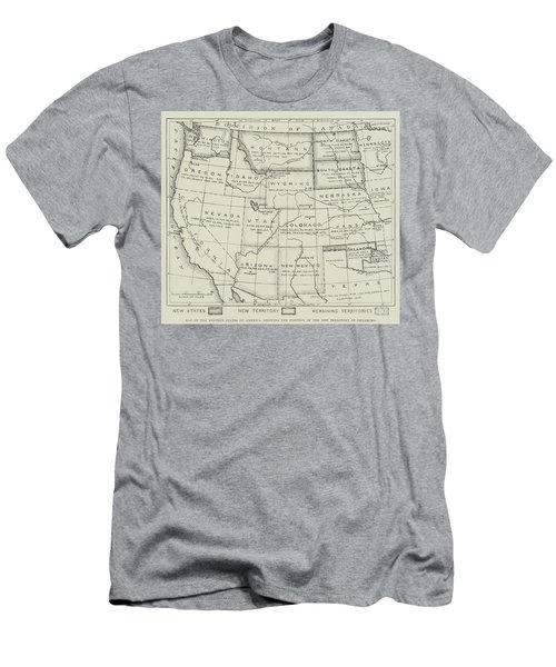 Map Of The Western States Of America Men's T-Shirt (Athletic Fit)