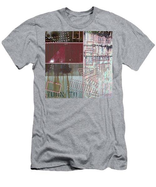 Maps #17 Men's T-Shirt (Slim Fit) by Joan Ladendorf
