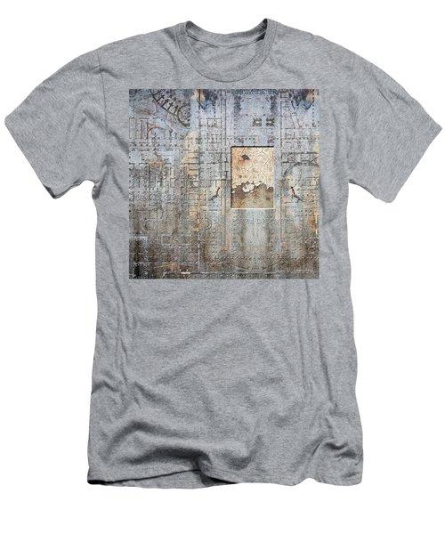 Maps #18 Men's T-Shirt (Slim Fit) by Joan Ladendorf