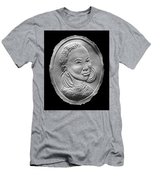 Marakwet Tribe Woman Relief Portrait Men's T-Shirt (Athletic Fit)