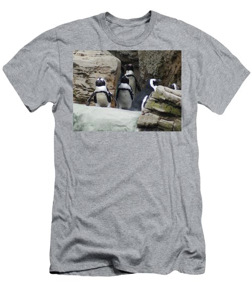 Men's T-Shirt (Slim Fit) featuring the photograph March Of The Penguins by B Wayne Mullins