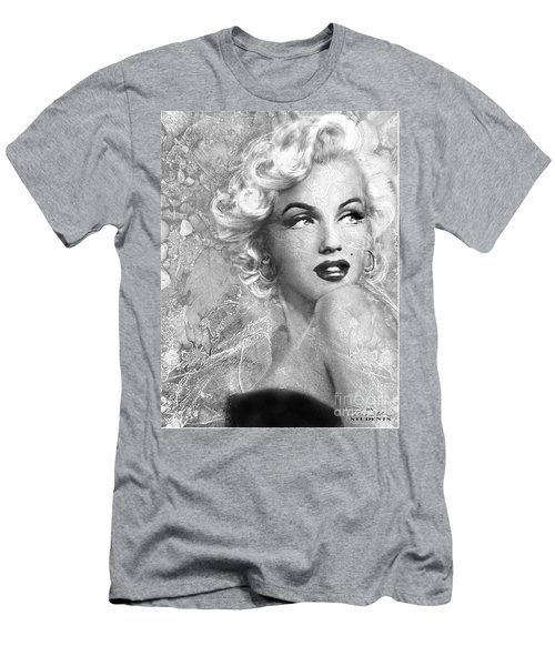 Marilyn Danella Ice Bw Men's T-Shirt (Athletic Fit)