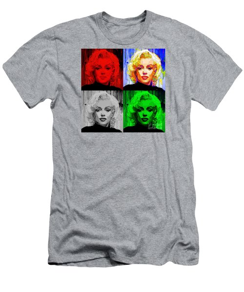 Marilyn Monroe - Quad. Pop Art Men's T-Shirt (Athletic Fit)
