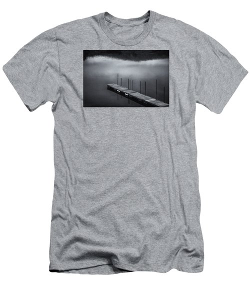 Men's T-Shirt (Slim Fit) featuring the photograph Marina Dock by Tom Singleton