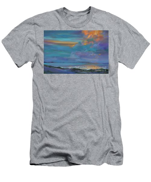 Men's T-Shirt (Slim Fit) featuring the painting Mariners Beacon by AnnaJo Vahle