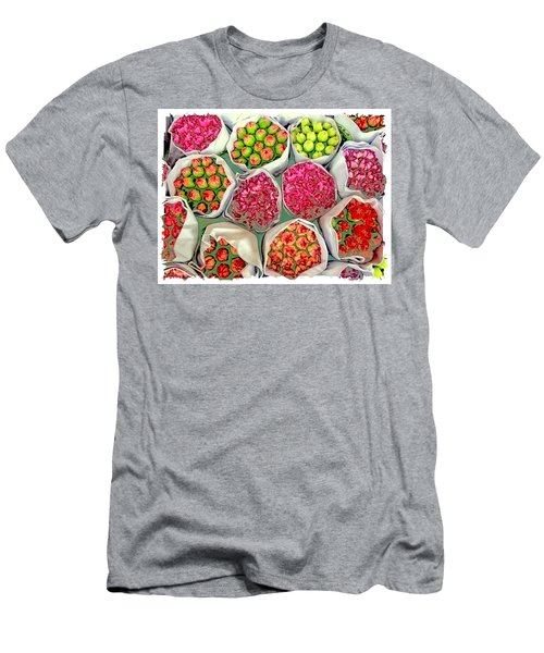 Market Flowers - Hong Kong Men's T-Shirt (Athletic Fit)