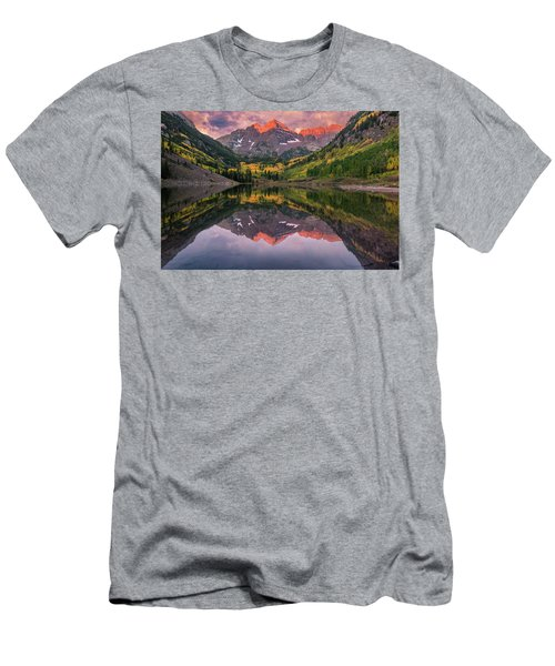 Maroon Bells At Sunrise Men's T-Shirt (Athletic Fit)