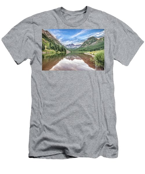 Men's T-Shirt (Slim Fit) featuring the photograph Maroon Bells Near Aspen, Colorado by Peter Ciro