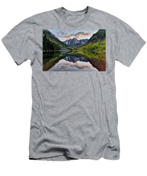 Maroon Bells Sunset Men's T-Shirt (Athletic Fit)