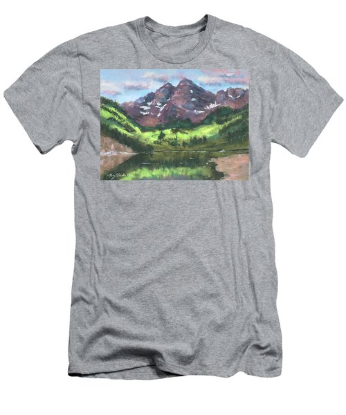 Maroon Reflections Men's T-Shirt (Athletic Fit)