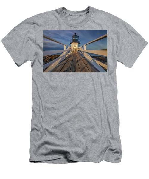 Marshall Point Lighthouse At Sunrise Men's T-Shirt (Athletic Fit)