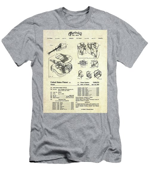 Martin Guitar Patent Art Men's T-Shirt (Athletic Fit)