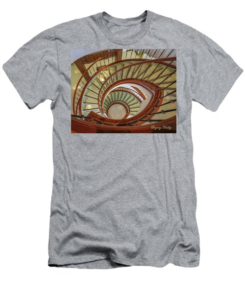 Men's T-Shirt (Slim Fit) featuring the photograph Marttin Hall Spiral Stairway by Gregory Daley  PPSA