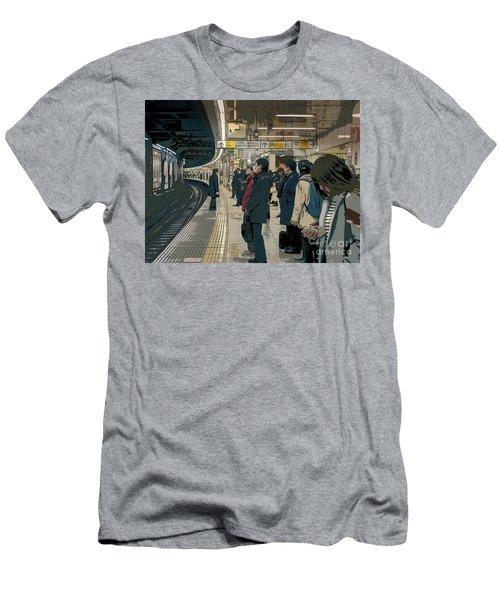 Marunouchi Line, Tokyo Metro Japan Poster 2 Men's T-Shirt (Athletic Fit)