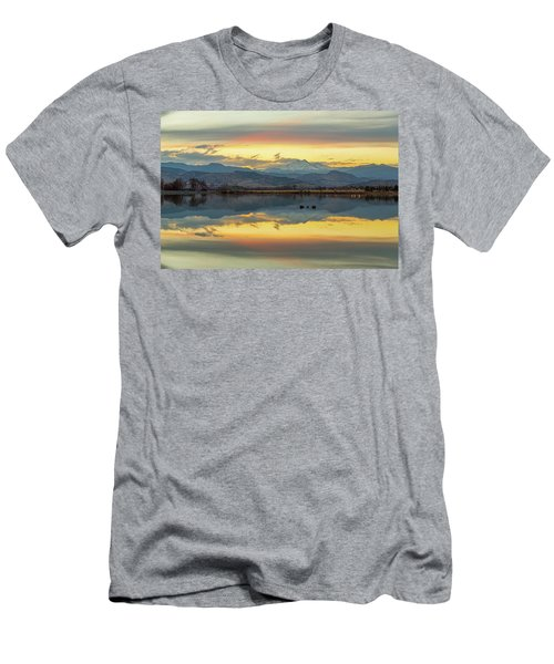 Men's T-Shirt (Slim Fit) featuring the photograph Marvelous Mccall Lake Reflections by James BO Insogna