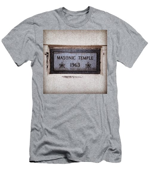 Masonic Temple Men's T-Shirt (Athletic Fit)