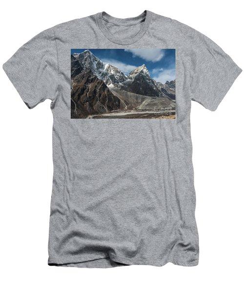 Men's T-Shirt (Slim Fit) featuring the photograph Massive Tabuche Peak Nepal by Mike Reid