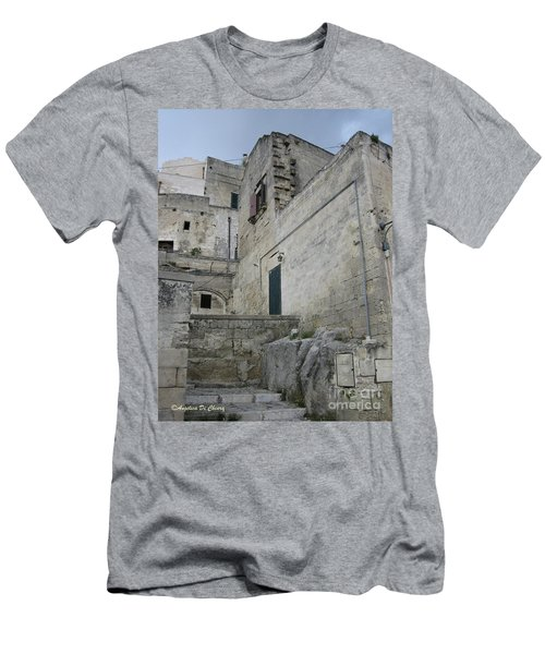 Matera Houses Men's T-Shirt (Athletic Fit)