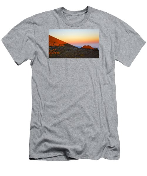 Mauna Kea Sunset With Full Moon Volcanoes National Park Hawaii Men's T-Shirt (Athletic Fit)