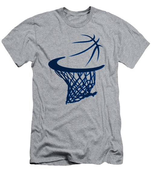 Mavericks Basketball Hoops Men's T-Shirt (Slim Fit) by Joe Hamilton