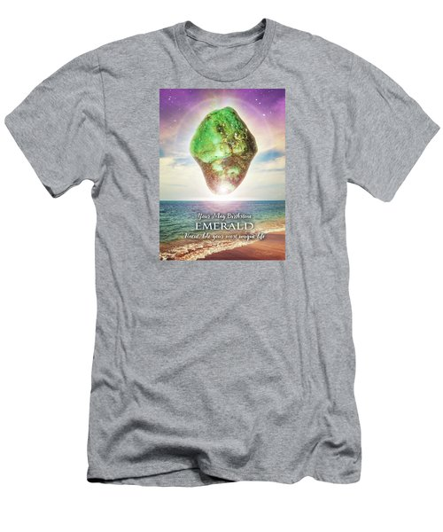May Birthstone Emerald Men's T-Shirt (Athletic Fit)