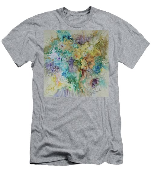 Men's T-Shirt (Slim Fit) featuring the painting May Flowers by Joanne Smoley