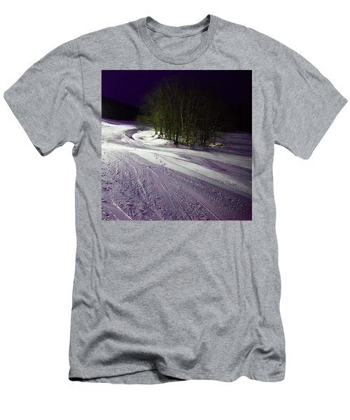Men's T-Shirt (Slim Fit) featuring the photograph Mccauley Evening Snowscape by David Patterson