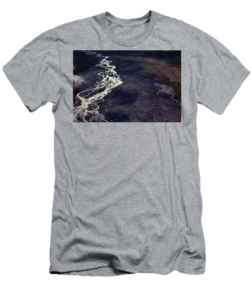 Men's T-Shirt (Athletic Fit) featuring the photograph Mckinley River From The Air by Rick Berk
