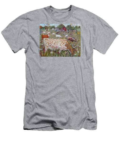 Meadow Farm Cows Men's T-Shirt (Athletic Fit)