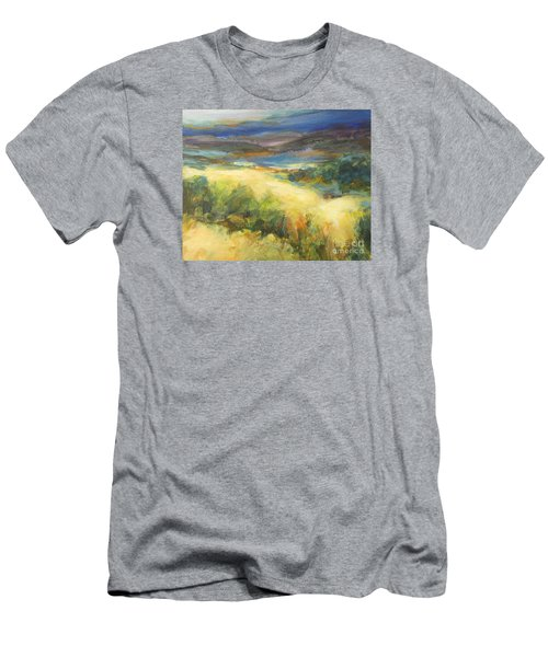 Meadowlands Of Gold Men's T-Shirt (Slim Fit) by Glory Wood