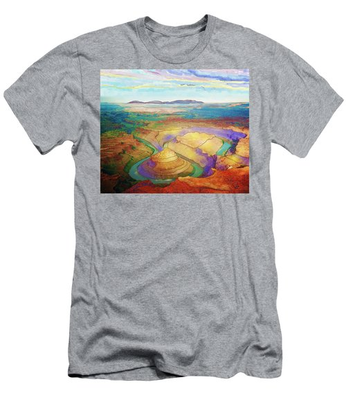 Meander Canyon Men's T-Shirt (Athletic Fit)
