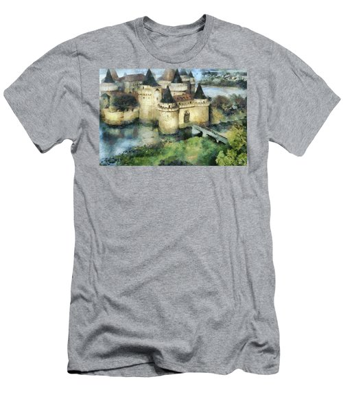Medieval Knight's Castle Men's T-Shirt (Slim Fit) by Sergey Lukashin