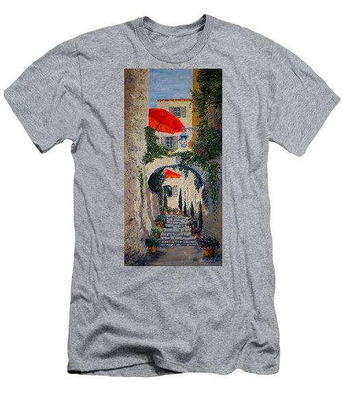 Medieval Steps At St Paul De Vence Men's T-Shirt (Athletic Fit)