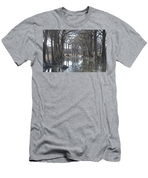 Medina River In Winter Men's T-Shirt (Athletic Fit)