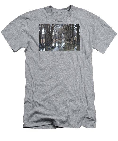 Medina River In Winter Men's T-Shirt (Athletic Fit)