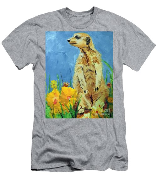 Men's T-Shirt (Slim Fit) featuring the painting Meerly Curious by Tom Riggs