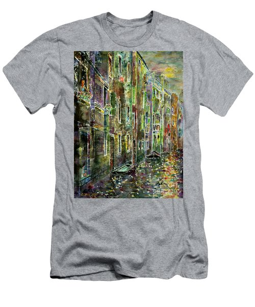 Men's T-Shirt (Slim Fit) featuring the painting Melanconia by Alfred Motzer