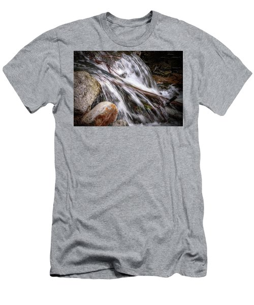 Melting Snow Falls Men's T-Shirt (Slim Fit) by Elaine Malott