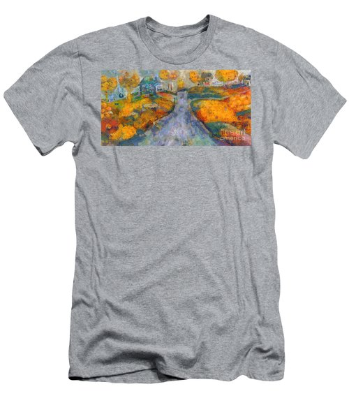 Memories Of Home In Autumn Men's T-Shirt (Athletic Fit)