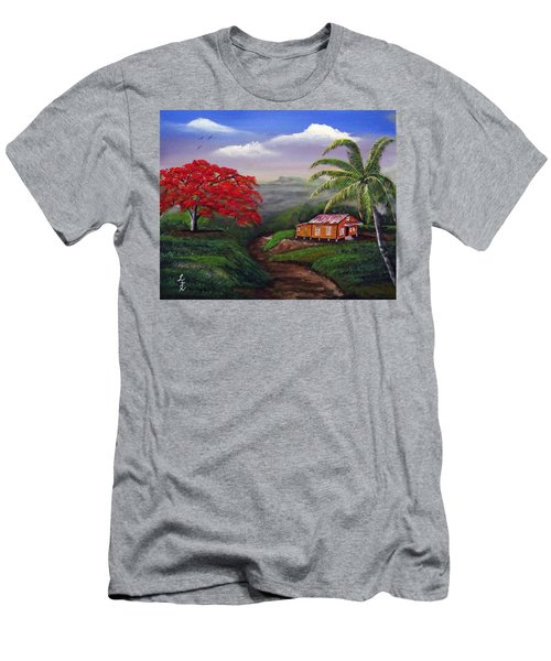 Memories Of My Island Men's T-Shirt (Slim Fit) by Luis F Rodriguez