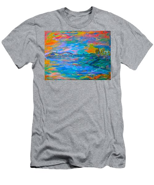 Men's T-Shirt (Athletic Fit) featuring the painting Memphis Edge  by Kendall Kessler