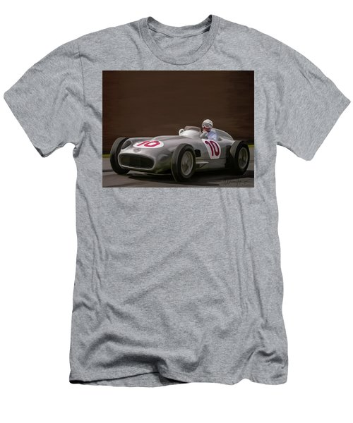 Mercedes-benz W196 Number 10 Men's T-Shirt (Slim Fit) by Wally Hampton