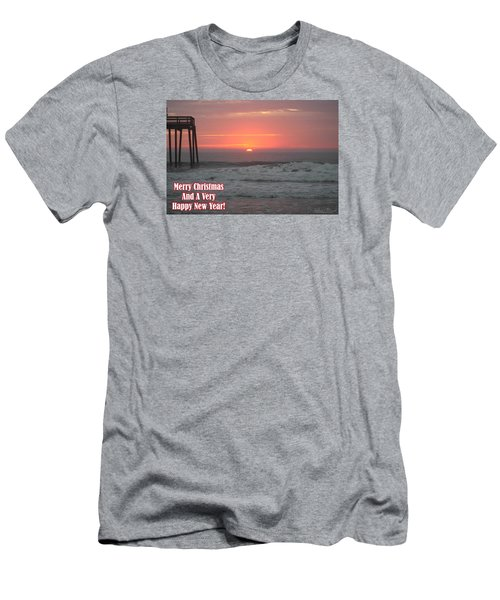 Merry Christmas Sunrise  Men's T-Shirt (Slim Fit) by Robert Banach
