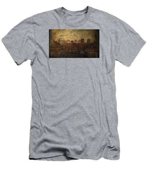 Merry Christmas Men's T-Shirt (Slim Fit) by Vittorio Chiampan