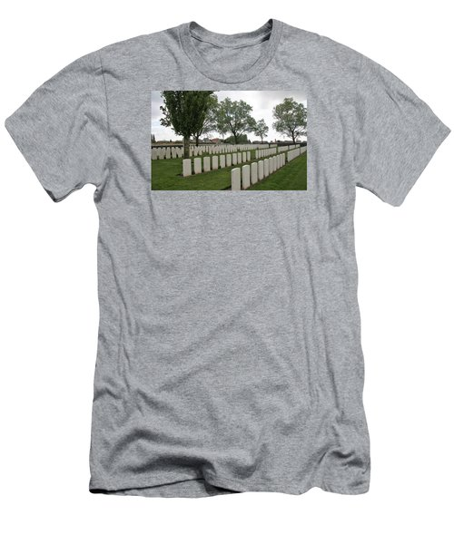 Men's T-Shirt (Slim Fit) featuring the photograph Messines Ridge British Cemetery by Travel Pics