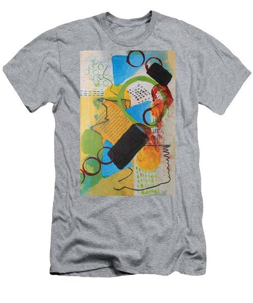 Messy Circles Of Life Men's T-Shirt (Athletic Fit)