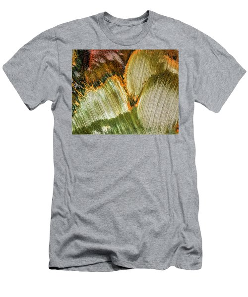 Men's T-Shirt (Athletic Fit) featuring the photograph Metal Abstract  by David Waldrop