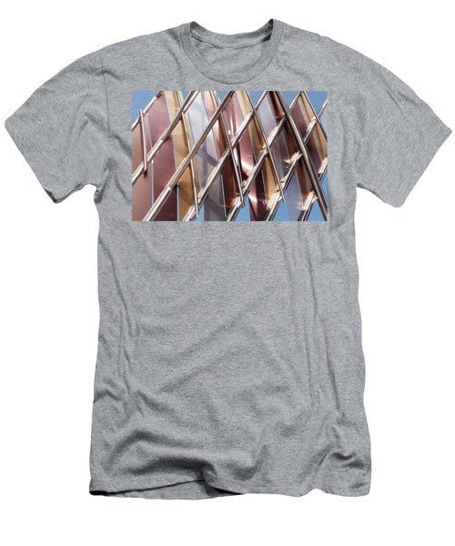 Metal Abstract With Lines And Angles In Lansing Michigan Men's T-Shirt (Athletic Fit)