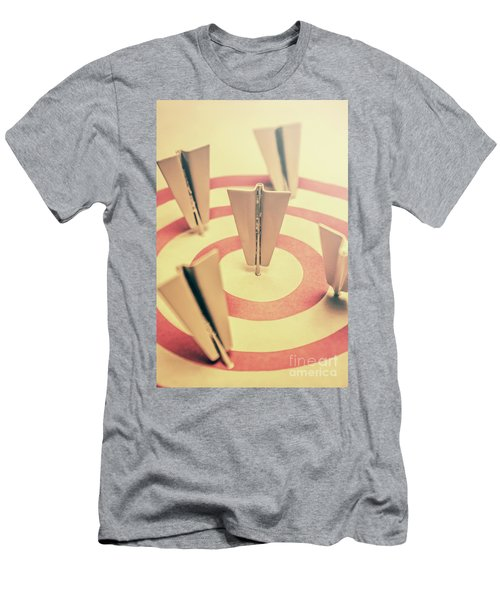 Metal Paper Planes In Target, Business Aims Men's T-Shirt (Athletic Fit)